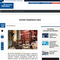 Enrichir l'expérience client - Industrie Hôtelière