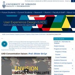 User Experience Design (UXD) - Faculty of Information (iSchool)