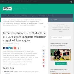 Retour d'expérience : Les étudiants de BTS SIO du lycée Bonaparte créent leur...
