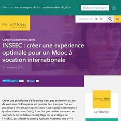 INSEEC : créer une expérience optimale pour un Mooc à vocation internationale