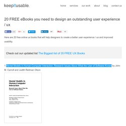 20 FREE ebooks for designing user experience / ux by keepitusable