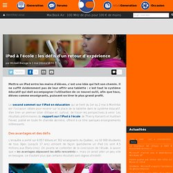 iPad à l'école : les défis d'un retour d'expérience