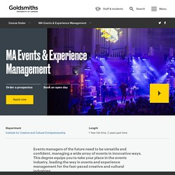 MA Events & Experience Management
