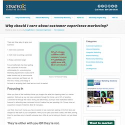 Why Should I Care About Customer Experience Marketing?