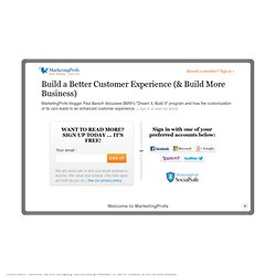 Build a Better Customer Experience (& Build More Business)