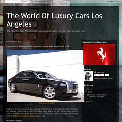 Rolls Royce Ghost, Drophead Coupe For Rent In Los Angeles
