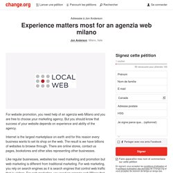 Experience matters most for an agenzia web milano