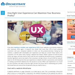 How Right User Experience Can Maximize Your Business Profits?