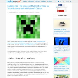 Experience The Minecraft Game For Free In Your Browser With Minecraft Classic
