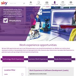 Work experience opportunities