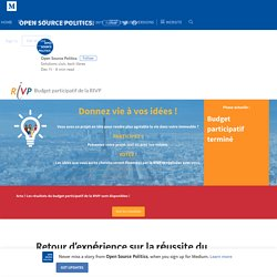 Retour d'expérience sur la réussite du premier budget participatif de la RIVP