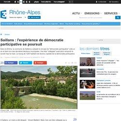 Saillans : l'expérience de démocratie participative se poursuit - France 3 Rhône-Alpes