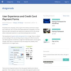 User Experience and Credit Card Payment Forms - Designmodo