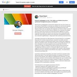 Morgan Magnin - Google+ - Expérience pédagogique en cours : faire réaliser aux…