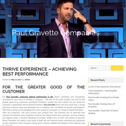 Thrive Experience – Achieving Best Performance