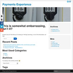 Payments Experience - Filed under 'personalization'
