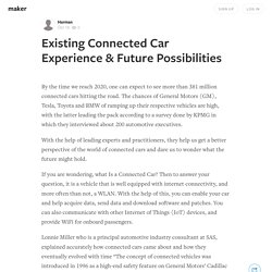 Existing Connected Car Experience & Future Possibilities