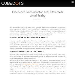 Experience Preconstruction Real Estate With Virtual Reality - Cubedots
