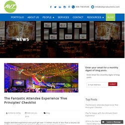 The Fantastic Attendee Experience 'Five Principles' Checklist