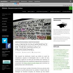 Valoriser son expérience de thèse dans un CV professionnel