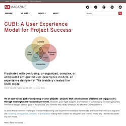 CUBI: A User Experience Model for Project Success