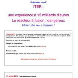 Une expérience à quinze milliards d'euros
