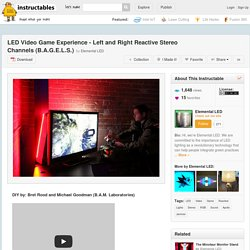 LED Video Game Experience - Left and Right Reactive Stereo Channels (B.A.G.E.L.S.) - All