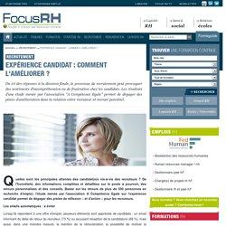 Expérience candidat : comment l'améliorer ? - Recrutement - Focus RH