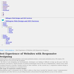 Best Experience of Websites with Responsive Designing