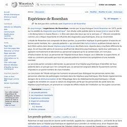 Expérience de Rosenhan