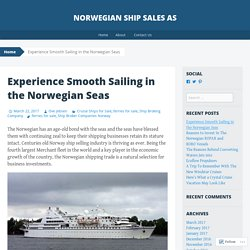Experience Smooth Sailing in the Norwegian Seas