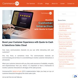 Boost your Customer Experience with Quote-to-Cash & Salesforce Cloud- CommerceCX