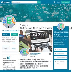 6 Ways To Improve The User Experience On Your Website