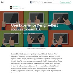 User Experience Design — Best sources to learn UX — Personal Growth