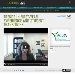 Trends In First-Year Experience and Student Transitions