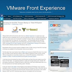 VMware Front Experience: Free backup for free ESXi: Thinware vBackup vs. Trilead VM Explorer