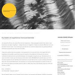 Kundalini et expérience transcendantale