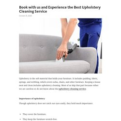 Book with us and Experience the Best Upholstery Cleaning Service