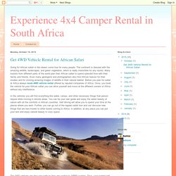 Hire 4WD Vehicle Rental for African Safari