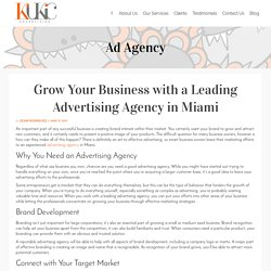 Grow Your Business with a Leading Advertising Agency in Miami