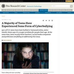 A Majority of Teens Have Experienced Some Form of Cyberbullying