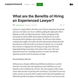 What are the Benefits of Hiring an Experienced Lawyer? - Personal Lawyer
