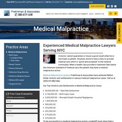 Experienced Medical Malpractice Lawyers in New York City