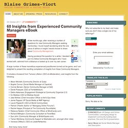 60 Insights from Experienced Community Managers eBook - Community Management