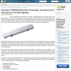 Shenzhen COMLED Electronic Technology -An Experienced Manufacturer of LED Lighting!