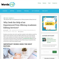 Why Seek the Help of an Experienced Firm 