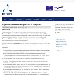 Experienced Researcher position at Pangeanic