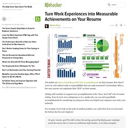 Turn Work Experiences into Measurable Achievements on Your Resume