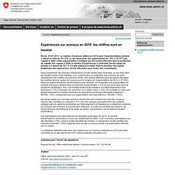 OVF (Suisse) 05/07/11 Expériences sur animaux en 2010: les chiffres sont en hausse