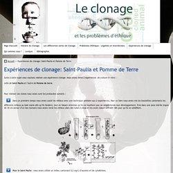 Expériences de clonage: Saint-Paulia et Pomme de Terre